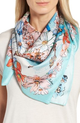 Women's Echo Paris In The Spring Silk Square Scarf $69 thestylecure.com