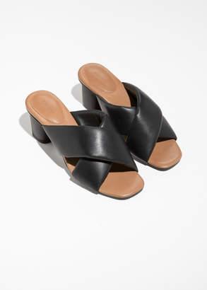 Criss Cross Heeled Sandals