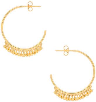 gorjana Chloe Mini Hoop Earrings in Metallic Gold. $60 thestylecure.com