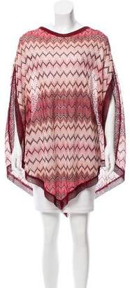 Missoni Chevron Knit Poncho