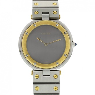 Cartier Santos Ronde Anthracite gold and steel Watches