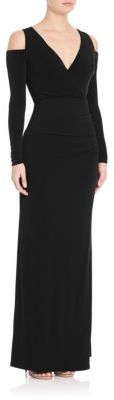 Laundry by Shelli Segal Cold-Shoulder Gown $245 thestylecure.com