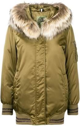 Alessandra Chamonix hooded padded bomber jacket