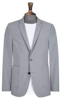 Burton Mens Grey Skinny Fit Comfort Stretch Blazer
