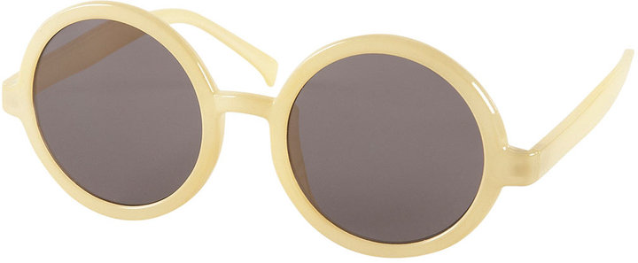Lemon Round Oversize Sunglasses By Squint Topshop