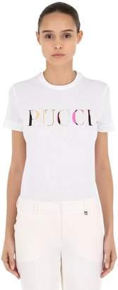 Emilio Pucci Logo Printed Jersey T-Shirt