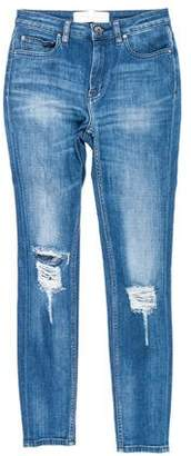 IRO Mid-Rise Distressed Jeans