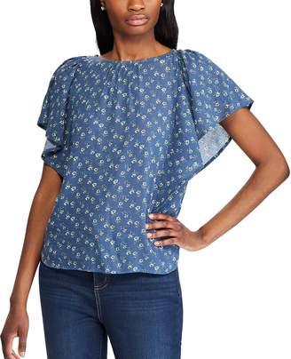 Chaps Women's Short Sleeve Blouse
