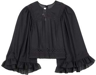 McQ Embroidered top