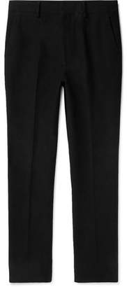 The Row Black Mick Slim-Fit Cotton And Cashmere-Blend Moleskin Trousers