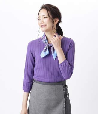 NEWYORKER women's 【秋新作】【手洗い可能】【Days Knit】リブ見えクルーネックプルオーバー