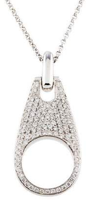 Movado 18K Diamond Zipper Pendant Necklace