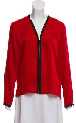 T Tahari Zip-Up Long Sleeve Top