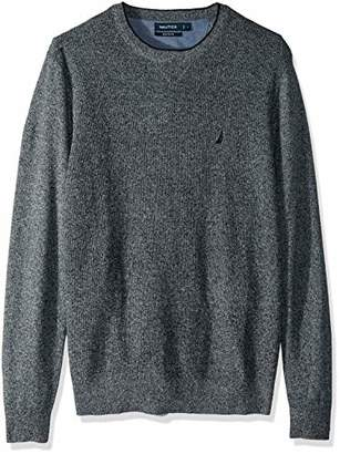 Nautica Men's Light Weight Crew Neck Solid Sweater