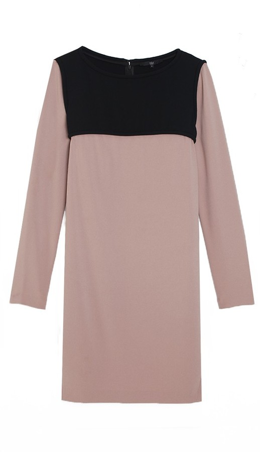 Tibi Color Block Crepe Dress