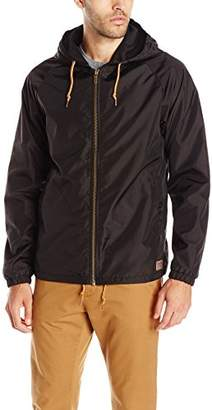 Brixton Men's Claxton Hooded Water Repellant Windbreaker Jacket