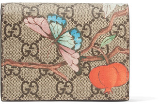 Gucci - Printed Coated-canvas Wallet - Beige $320 thestylecure.com