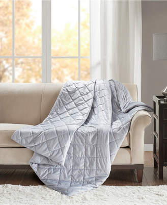 Simmons Luxury 18lb Quilted Mink Weighted Blanket Bedding