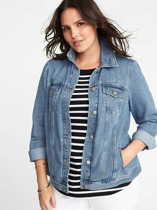 Old Navy Embroidered Plus-Size Denim Jacket