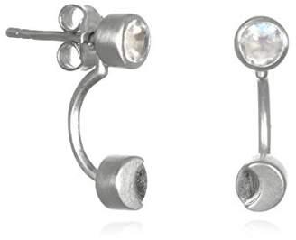 Satya Jewelry Moonstone Sterling Moon Phase Jacket Earrings