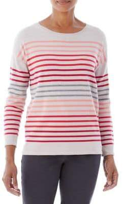 Olsen Berry Love Mixed Stripe Sweater