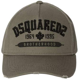 DSQUARED2 Brotherhood Embroidered Canvas Hat