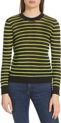 Veronica Beard Dean Stripe Linen Blend Sweater