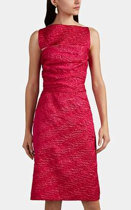 Narciso Rodriguez Women's Silk-Blend Cloqué Cutout Sheath Dress - Fuchsia