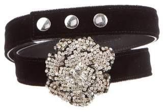 Giuseppe Zanotti Velvet Embellished Belt