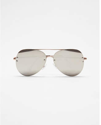 Express tinted aviator sunglasses