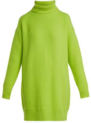 Christopher Kane Roll Neck Cashmere Sweater - Womens - Yellow