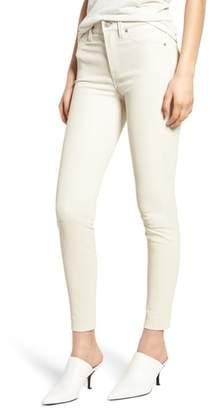 Hudson Barbara High Waist Super Skinny Leather Jeans