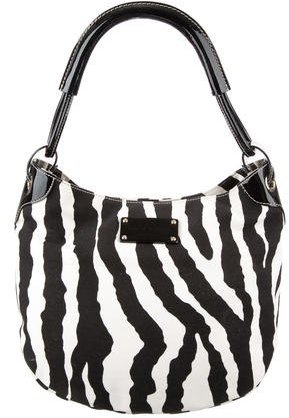 Kate Spade Kate Spade New York Zebra Print Canvas Hobo