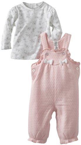 Little Me Baby-Girls Newborn Cute Bows Overall Set