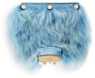 Furla MY PLAY Interchangeable Metropolis Mini Lamb Fur Flap