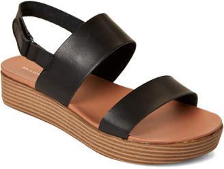 Madden-Girl Black Ashley Platform Slingback Sandals