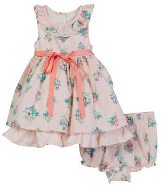Laura Ashley Pink Cotton Print Dress (Baby Girls 12-24M)