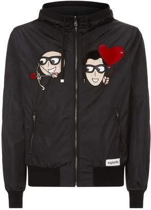Dolce & Gabbana Face Patch Bomber Jacket