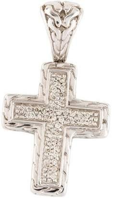 John Hardy Classic Chain Pavé Diamond Cross Pendant