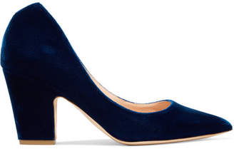 Rupert Sanderson Cicely Velvet Pumps - Blue