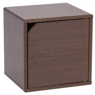 IRIS USA IRIS Wood Storage Cube with Door, Brown Oak, Kuda Series