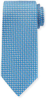 Salvatore Ferragamo Interlocking-Chain Silk Tie
