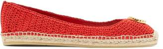 Gucci Lilibeth Gg Faux Pearl Embellished Espadrilles - Womens - Red