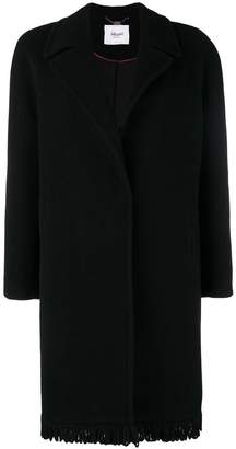 Blugirl fringed single breasted coat