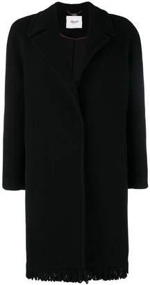Blugirl fringed single breasted coat