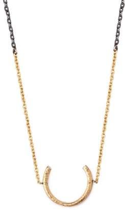 Pearls Before Swine Horseshoe Diamond Embellished Pendant Necklace - Mens - Multi