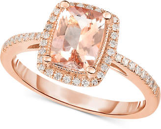 Macy's Morganite (1-1/3 ct. t.w.) & Diamond (1/5 ct. t.w.) Ring in 14k Rose Gold