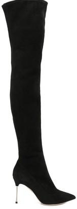 Sergio Rossi Godiva Steel thigh boots