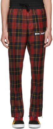 Palm Angels Red Check Sleek Track Trousers
