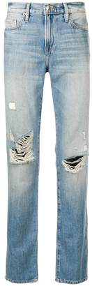 Frame distressed slim-fit jeans